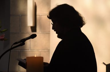 Silhouette of a Pastor