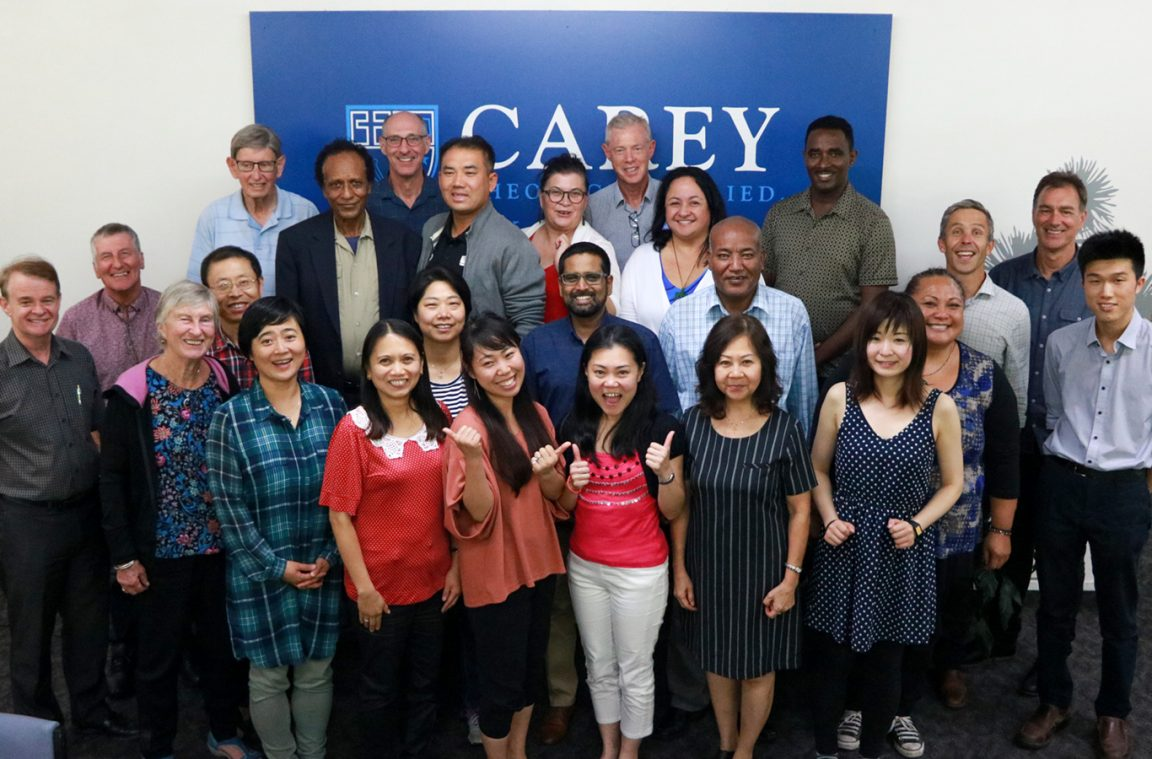 Students, Carey staff and the TabTrust at the Ethnic Ministry Programme Formal Welcome
