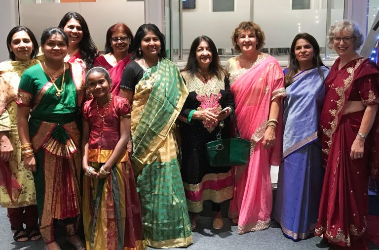 Women in saris at Hillsborough Bollywood