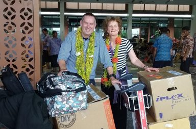 The Watsons with Cyclone Gita relief