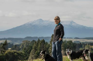 Janet Scarrow on her farm