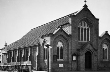 Palmerston North Central Baptist building in 1939