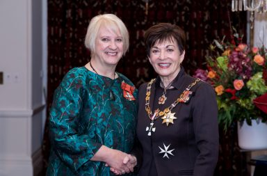Naomi Cowan with the Governor-General